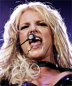 Britney Spears Sweaty Photo